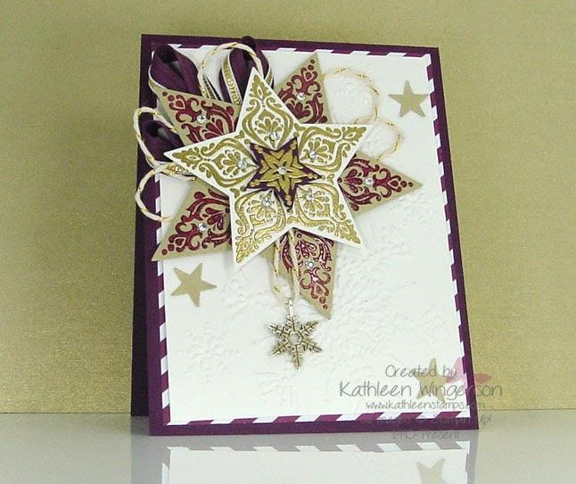 bright  beautful christmas card  stampin' up  kathleen