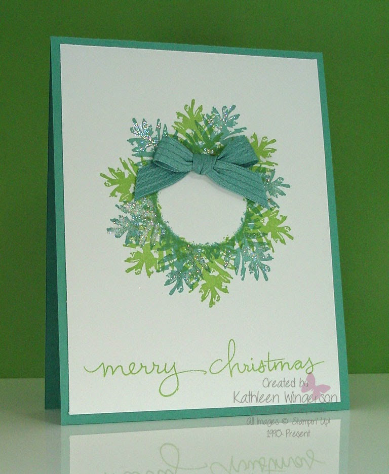 Ornamental Pine Christmas Card And Video Stampin Up