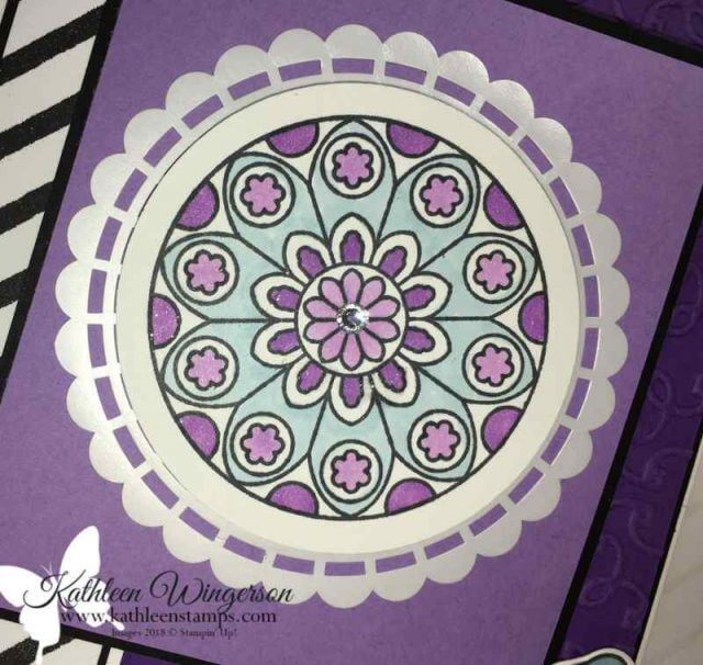 Close-up of Painted Glass birthday card
