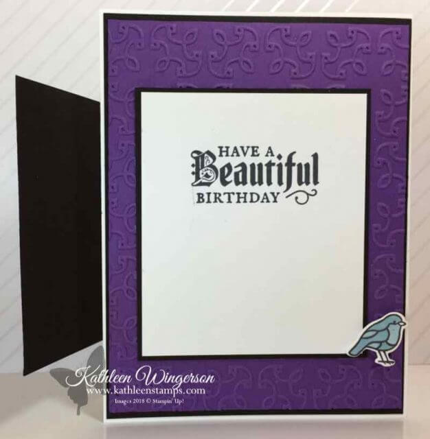 Happy Birthday card showcasing Painted Glass stamp set from Stampin' Up!