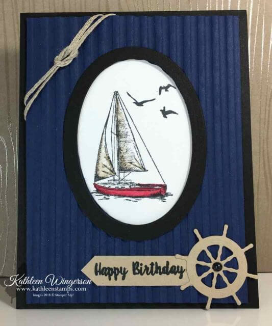 Masculine Birthday Card using Sailing Home stamp set and die bundle from Stampin' Up!