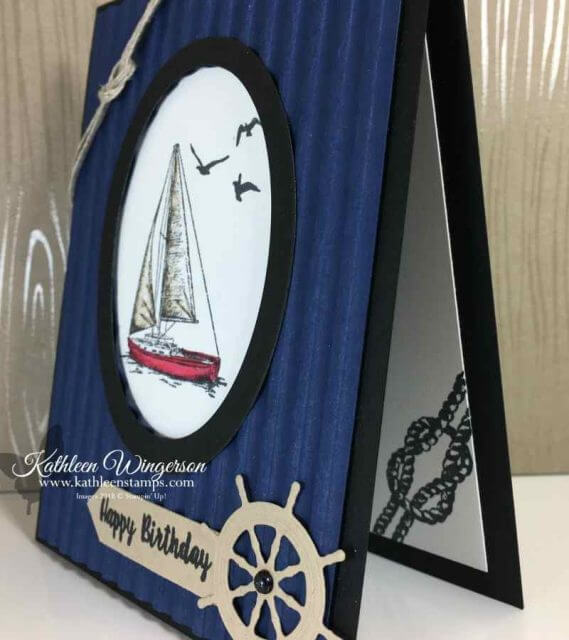 Masculine Birthday card using Sailing Home stamp set and dies from Stampin' Up!