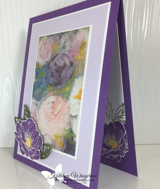Monet inspired Floral Essence Card