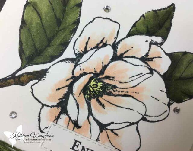 Magnolia Lane stamp set showcasing Stampin' Blends