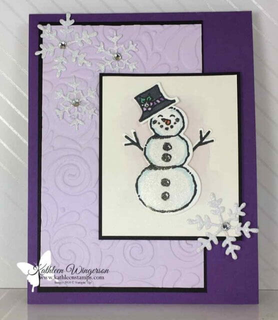 Christmas card using Snowman Season Bundle from Stampin' Up!