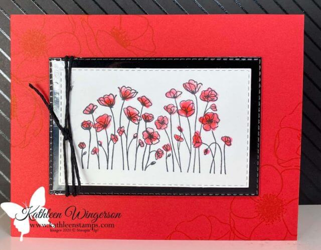 Painted Poppies Happy Birthday Card