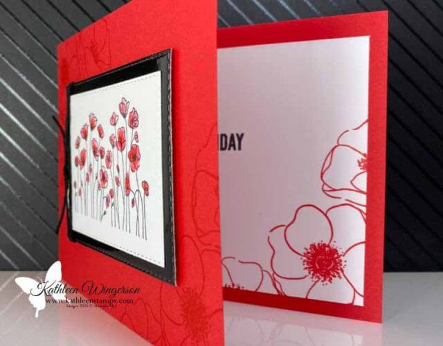 Painted Poppies Birthday Card