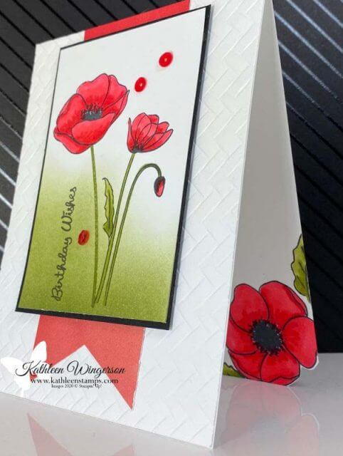 Painted Poppies Birthday Wishes Card