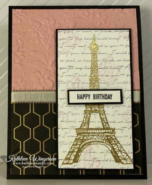 Parisian Beauty Birthday Card