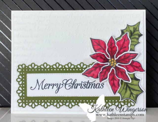 Poinsettia Petals Card