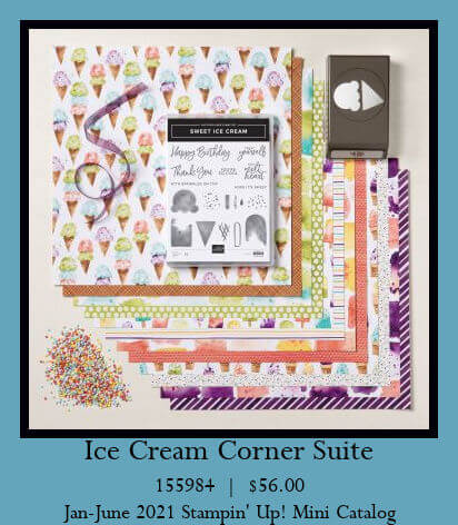 Birthday card using the Sweet Ice Cream bundle from Stampin' Up!