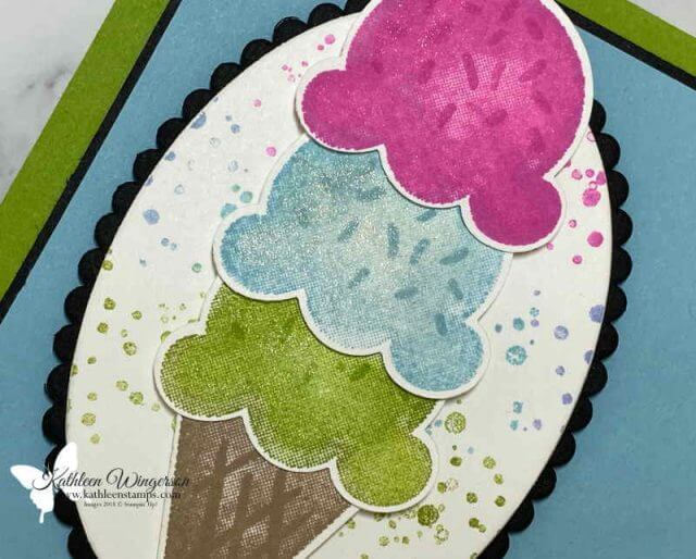 Learn to create your own Birthday card using the Sweet Ice Cream Bundle from Stampin' Up!