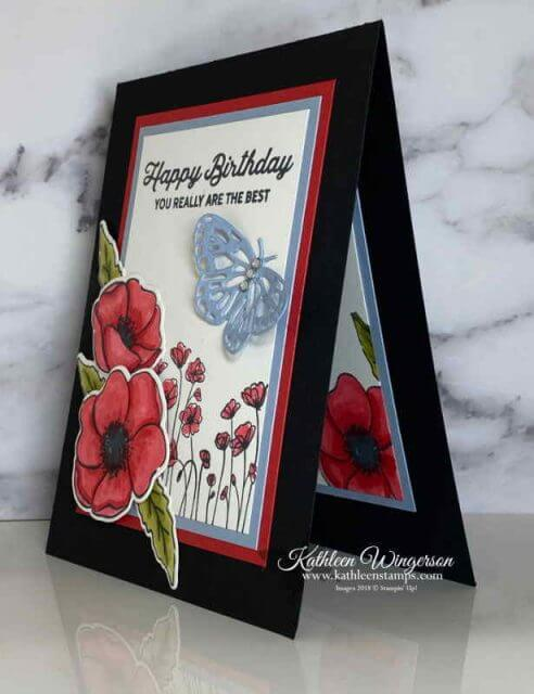 Painted Poppies-Happy Birthday Card